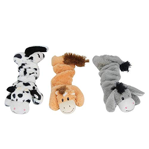 Zerodis 3 STK. Quietschendes Plüsch-Hundespielzeugpaket für Welpen, kleine gefüllte Welpen-Kauspielzeuge Dehnbare Hundespielzeuge Bulk Cute Soft Pet Toy für kleine mittelgroße Hunde
