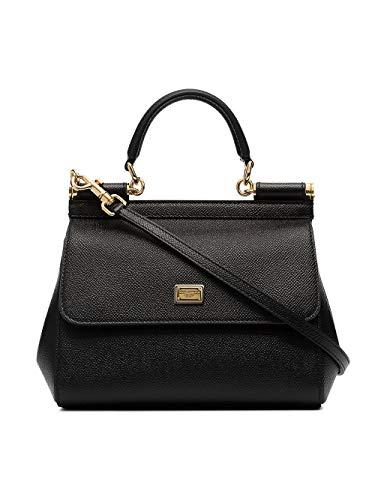 Luxury Fashion | Dolce E Gabbana Donna BB6003A100180999 Nero Pelle Borsa A Mano | Stagione Permanente