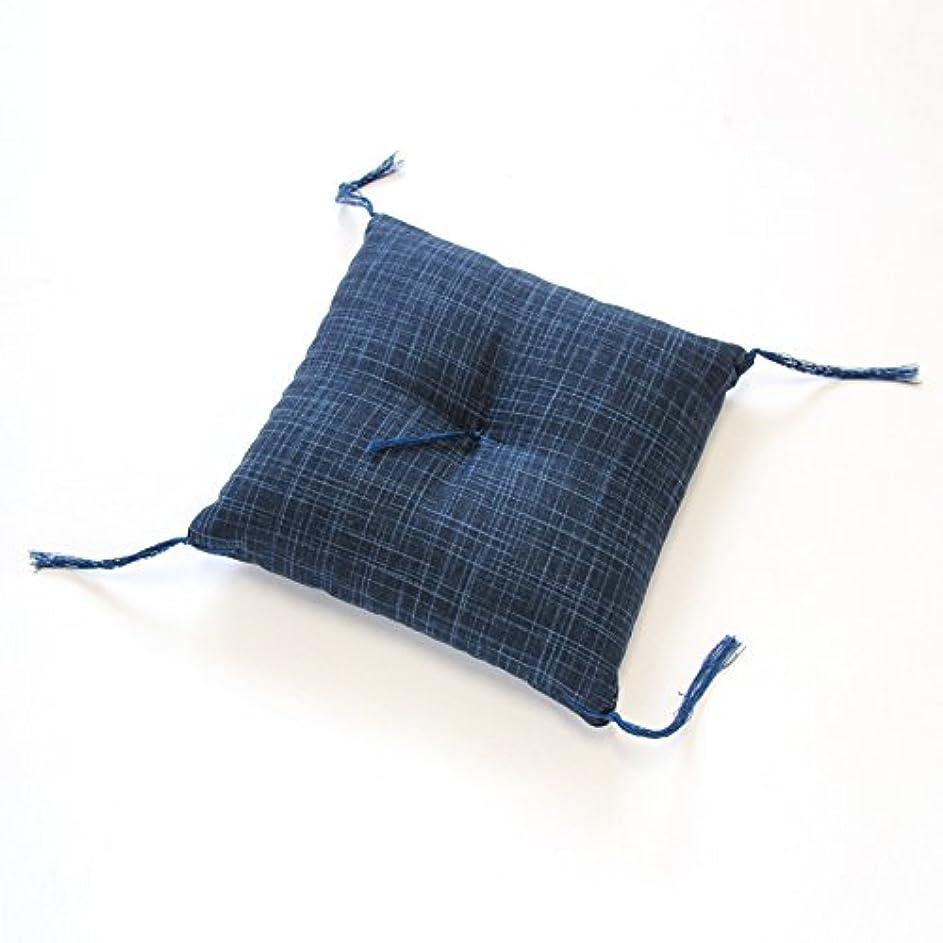 冷酷なウッズアンテナ20cm角ミニ座布団 なごみ こい藍色(座卓、脚布団?置物、飾り物の敷物などに)