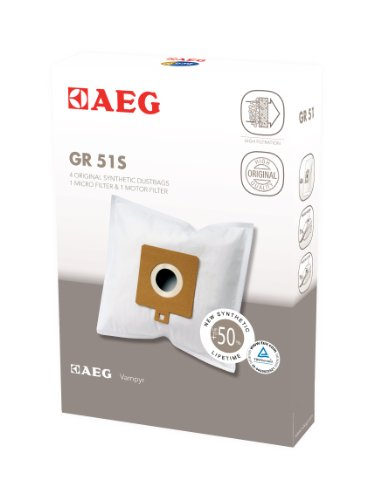 AEG Gr 51S 4x Synthetik Staubbeutel mit 1 Microfilter