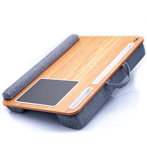 Goodcepts Laptopkissen I Laptop Unterlage mit Mausunterlage, Tablet – und Handyhalterung I praktisches Laptop Kissen für bis zu 17 Zoll Notebook I Tragbarer Laptoptisch