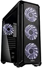 Zalman i3 ATX Gaming Mid Tower Computer, PC, ATX (& mATX) Case with Pre-Installed 4 x 120mm White LED Fans, Airflow System...
