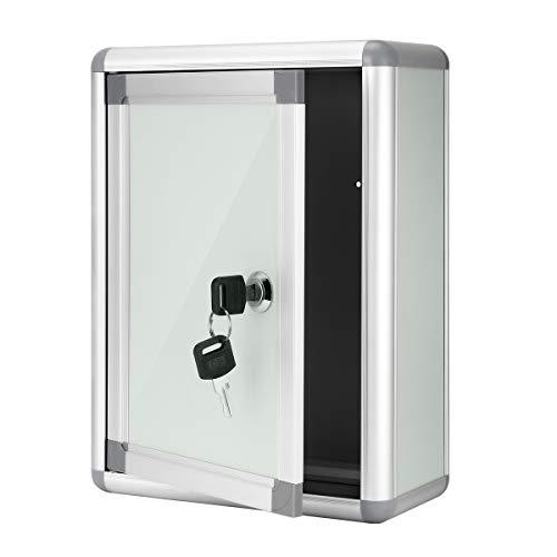 STOBOK - Caja de presentación pequeña para colgar en la pared, caja multiusos de aleación de aluminio con cierre de pared