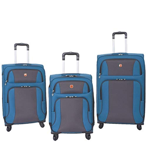 SwissGear SA6110 3 Piece Luggage Set Blue/Grey