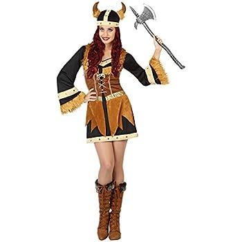 Atosa-26864 guerrero Disfraz Vikinga, color marrón, XS-S (26864 ...
