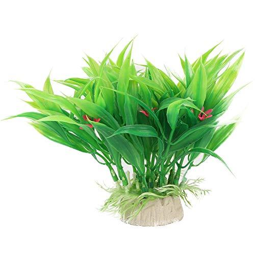Zyyini Kunstplanten Ornament, Veilig Makkelijk Te Reinig Plastic Multi Stijl Water Gras Decoratie Geschikt voor Aquarium Onderwater Vistank