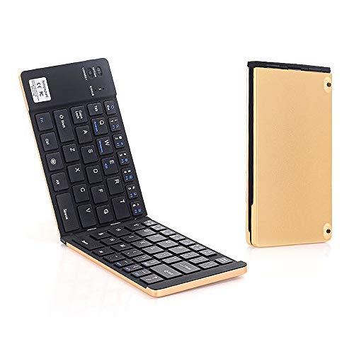 Teclado sem fio GK228 BT 66 teclas dobráveis mini teclado portátil de escritório com suporte para telefone/tablet/laptop ouro