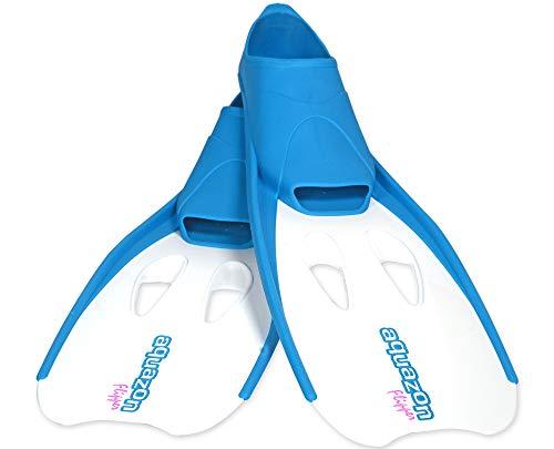 Aquazon Flossen, Schnorchelflossen, Schwimmflossen, Tauchflossen Flipper Für Kinder, Jugendliche Und Damen 27-30 Blau