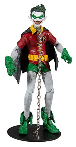 McFarlane Toys DC Multiverse Robin Earth -22 (Dark Nights: Metal) Action Figure with Build-A Parts for 'The Merciless' Figure