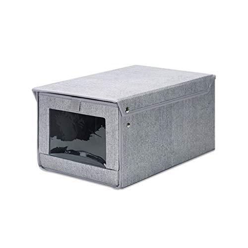 MKJYDM Oxford Paño Gris Transpirable Durable Puerta Rectangular Juguete Rectangular Caja De Almacenamiento De Ropa 50 * 40 * 30 Cm Cesto Sucio (Size : Large)