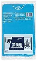 ジャパックス 業務用ポリ袋 20L TM21 0.025mm 青 10枚×60冊入