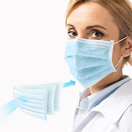 Virshields® Medizinischer Mundschutz - Typ IIR, BFE 98% / VFE 99,6%, DIN EN 14683, Made in EU, 50 STK, 3-lagig - OP Masken, Mund und Nasenschutz, Einweg Gesichtsmaske, Einwegmasken, Schutzmasken