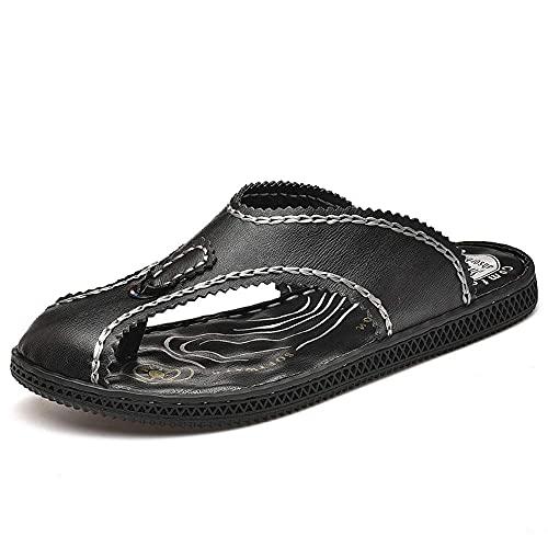 WECDS-E Scarpe da Uomo in Pelle Slip on Casual Comfort Mule Scarpe comode Scarpe da Uomo in Pelle di Bufalo Naturale Sandali ortopedici