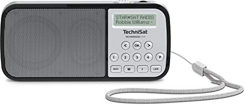 TechniSat Techniradio RDR - portables DAB+ Taschenradio (DAB+, UKW AUX, USB, Taschenlampe) Silber