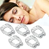 Kapmore 5PCS Creative Silicone Snoring Device Sleeping Supplies Anti Snoring Nose Clip
