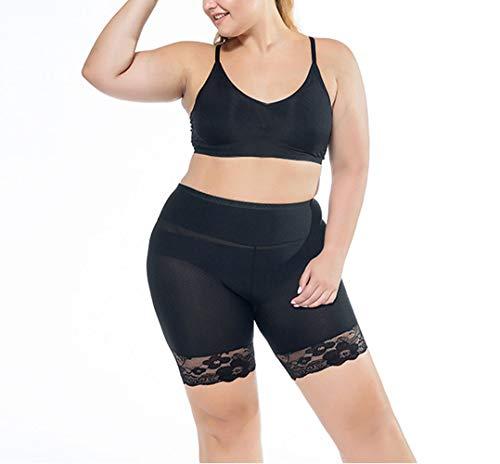 Egurs Dames Plus Size veiligheidsbroek Silky Seamless Stretchy Leggings onder jurk shorts met kant 2XL