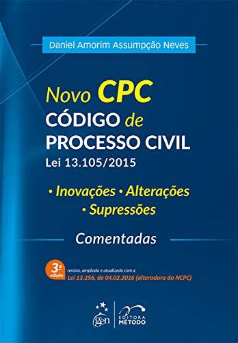 Novo CPC - Código de Processo Civil - Lei 13.105/2015