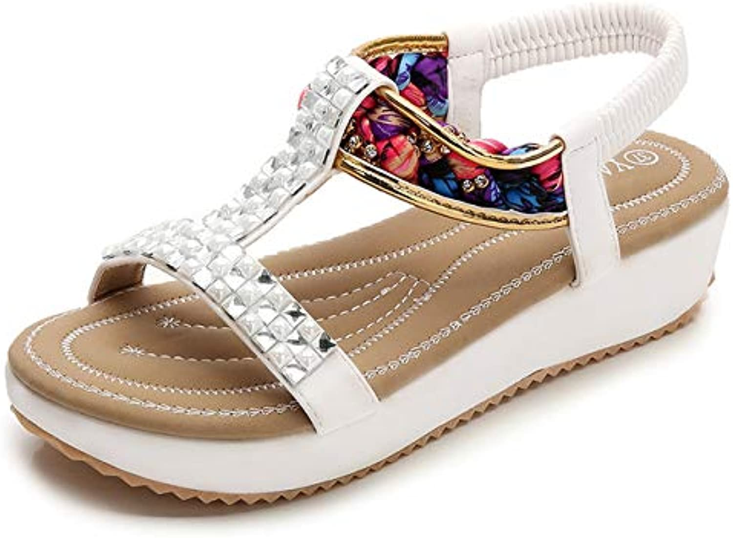 Women's Wedge Sandals, Summer shoes, Large Size Bohemian Platform Flats Sandals,Suitable for Home, Beach, Daily Wear, Leisure, Vacation, Travel, Casual