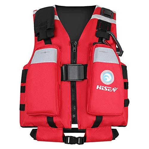 Magnifier Chaleco Salvavidas al Aire Libre para Adultos Chaleco Salvavidas Chaleco Auxiliar Kayak Pesca Deportes acuáticos Seguridad Chaleco Salvavidas Chaleco Equipo de natación