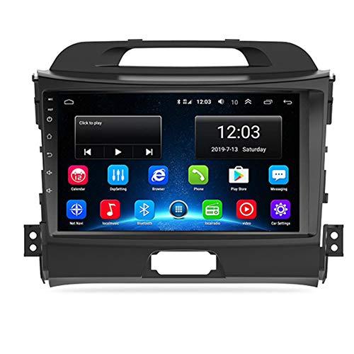 NBVNBV Autoradio 9'' Navigatore GPS Lettore Multimediale Digitale Radio per Auto Collegamento Mirror Controllo del Volante Misura per KIA Sportage 3 2010-2015,1g Cam