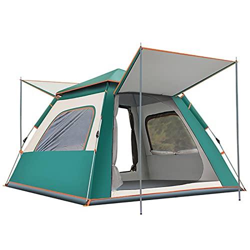 Carpa Camping Plegable, Revestimiento Impermeable 190t, con Almohadilla a Prueba De Humedad, MáScara para Los Ojos, Adecuado para Caminatas Al Aire Libre, 210 * 210 * 140 Cm Green