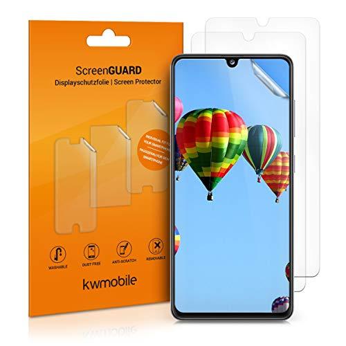 kwmobile 3X Folie kompatibel mit Samsung Galaxy A41 - klare Displayschutzfolie Displayschutz transparent Displayfolie Schutzfolie