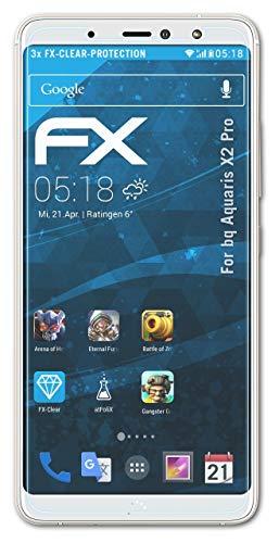 atFolix Schutzfolie kompatibel mit bq Aquaris X2 Pro Folie, ultraklare FX Bildschirmschutzfolie (3X)