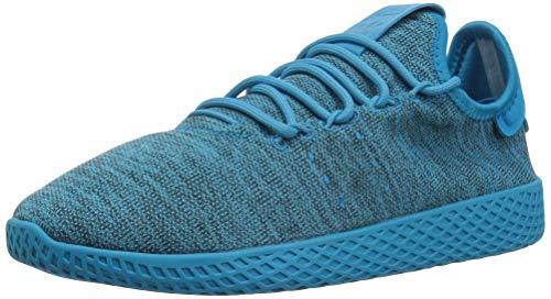 adidas Originals Unisex-Child Pharrell Williams Tennis Hu Running Shoe, Bold Aqua/Bold Aqua/Chalk White, 4 M US Big Kid