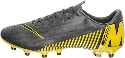 Nike Performance Mercurial Vapor XII Pro AG-Pro Fußballschuh Herren dunkelgrau/gelb, 10 US - 44 EU - 9 UK