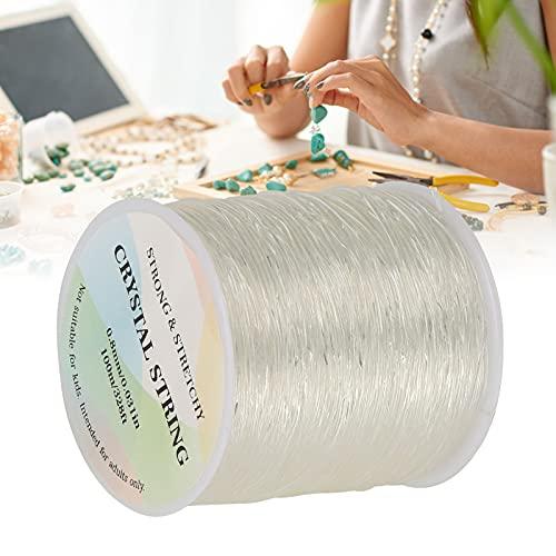Hilo de abalorios de bricolaje, pulsera con cordones elásticos elásticos para manualidades de joyería para tejido