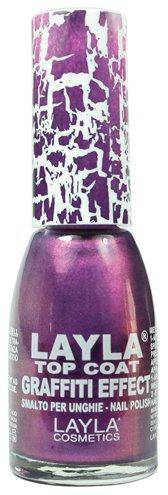 Milano Layla Cosmetics smalto Top Coat Graffiti crepa effetto speciale Violet 10ml