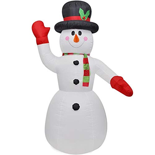 SOULONG Muñeco Inflable de Nieve LED,Muñeco de Nieve de Navidad Inflable con LED 240 cm,Exterior, Iluminación...