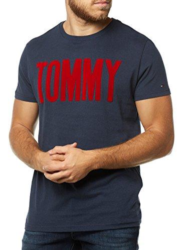 Tommy Hilfiger Basic Camiseta, Azul (Black Iris 002), X-Large para Hombre