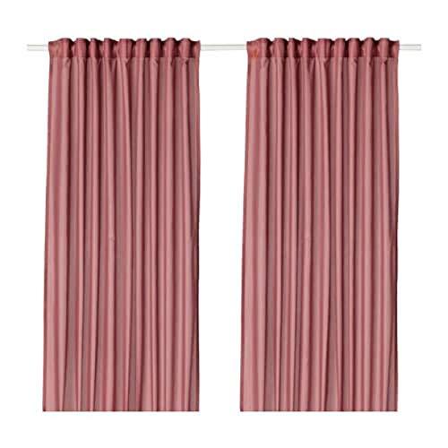 Ikea VIVAN Vorhänge 1 Paar pink 704.108.62 Größe 57x98