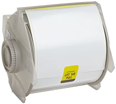 """Brady High Adhesion Vinyl Label Tape (113109) - White Vinyl Film - Compatible with GlobalMark Industrial Label Printer - 100' Length, 4"""" Width"""