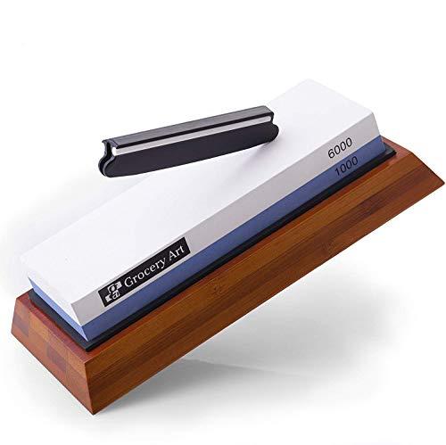Grocery Art Whetstone Knife Sharpener - Knife Sharpening Stone -...