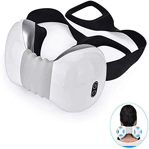 YLYHK Nackenmassage entspannen Halswirbel 3D Massage Schmerzen lindern Hals Instrument Umhängeband Hot Einpresstiefe Knet-Massagegerät,Weiß