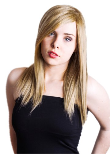 Prettyland Perruque Longue Blond Cendré Chataîn Clair Sleek-Look Coiffure Raide Lisse Lolita Crochet Wig C191