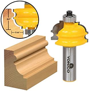 Yonico 16137 3/4-Inch Architectural Molding Router Bit 1/2-Inch Shank
