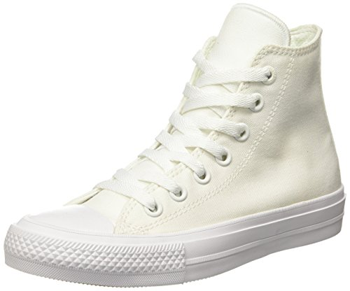 Converse Unisex-Erwachsene Sneakers Chuck Taylor All Star II C150148 High-Top, Weiß (White/White/Navy), 36 EU
