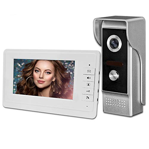 uoweky 7 '' TFT LCD con Cable Video Metal Intercom Timbre de la Puerta Sistema de Teléfono para el Hogar 700TVL IR Cámara Exterior Monitor de interior 100 Metros (1 camera 1 monitor)
