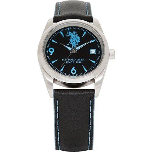US Polo Association Reloj Analógico para Hombre de Cuarzo con Correa en Cuero USP4047BL