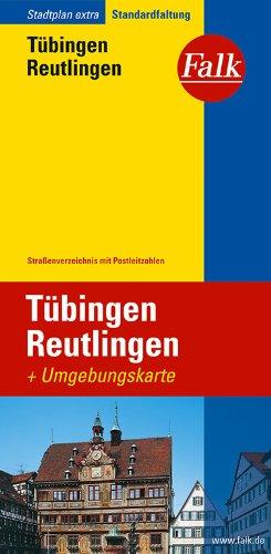 Falk Stadtplan Extra Standardfaltung Tübingen / Reutlingen