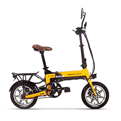 RICH BIT Bicicleta eléctrica, Bicicleta eléctrica Plegable de 14 Pulgadas y 36V...