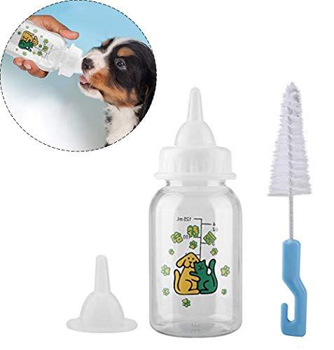 Smandy Biberon per Cuccioli Cane e Gatto,Set di Bottiglie di Cura per Cuccioli Gattini Kit di Alimentazione Bottiglie di Latte capezzoli per Piccoli Animali Domestici (125ml)