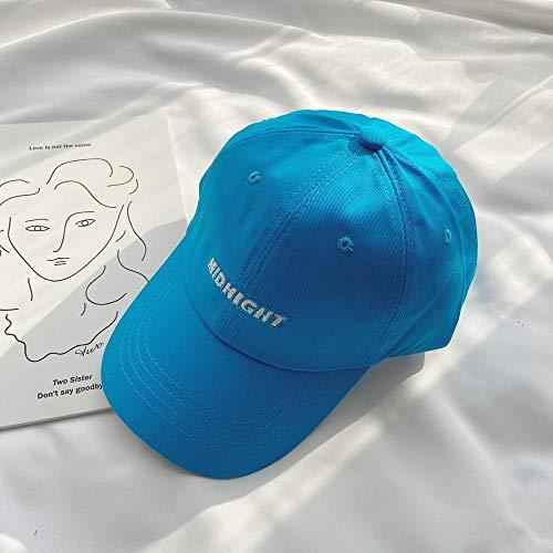 Hoed Vrouwelijke Pet Mannelijke Honkbal Pet gezicht Kleine Japanse Zonnebrandcrème hoed adjustable Blauw