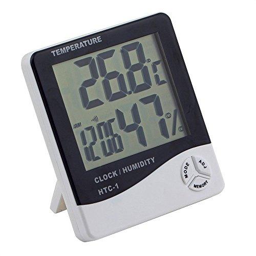 Hommy 【デジタル温湿度計】 熱中症 ・インフル ・お肌のうるおい等チェックに 温度計 湿度計 時計 アラー...