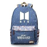 KPOP BTS Bangtan Boys Mochila Unisex Casual Schoolbag Laptop Bag Laptop Bag Mochila de Viaje Bonito Regalo para los fanáticos de BTS