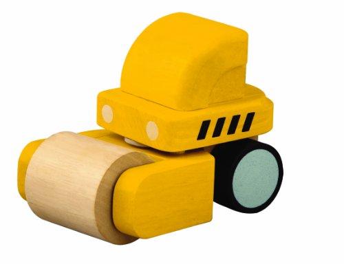 PlanToys - PT6318 - Jouet en bois - Véhicule - Rouleau Compresseur