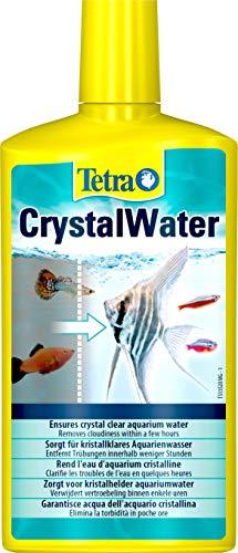 Tetra CrystalWater, für kristallklares Aquarienwasser, Wasserklärer gegen Trübungen, bindet Schwebepartikel, 500 ml Flasche